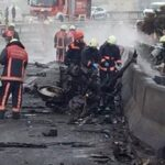 Turquía: Helicóptero se estrella contra torre de TV y mueren 7 tripulantes (VIDEO)