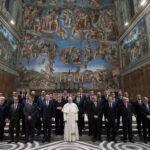 Papa Francisco y líderes europeos en encuentro bajo la mirada del Juicio Final