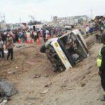 Panamericana Sur: Relación de muertos y heridos de accidente