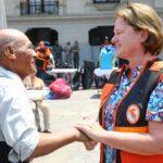 Nancy Lange agradece solidaridad de peruanos con damnificados