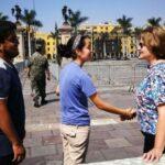 Nancy Lange recibe en Palacio donativos para damnificados por lluvias (VIDEO)