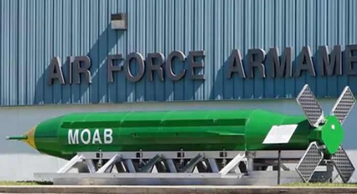 Trump autorizó lanzamiento de la Madre de todas las bombas