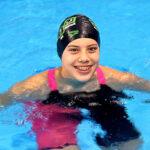 Nadadora Samantha Bello logra medalla de plata en Sudamericano