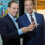Schwarzenegger debatió sobre energía verde con alcalde de Sao Paulo