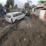 Carapongo: Avanza limpieza de calles y casas afectadas por inundaciones