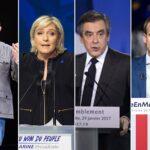Francia: Mélenchon y Fillon pisan los talones a favoritos Macron y Le Pen:
