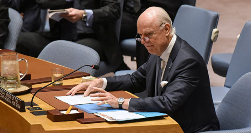 Mediador de la ONU recibe a delegación del Gobierno sirio