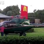 YouTube: Llega en helicóptero a McDonald's para comprar su hamburguesa