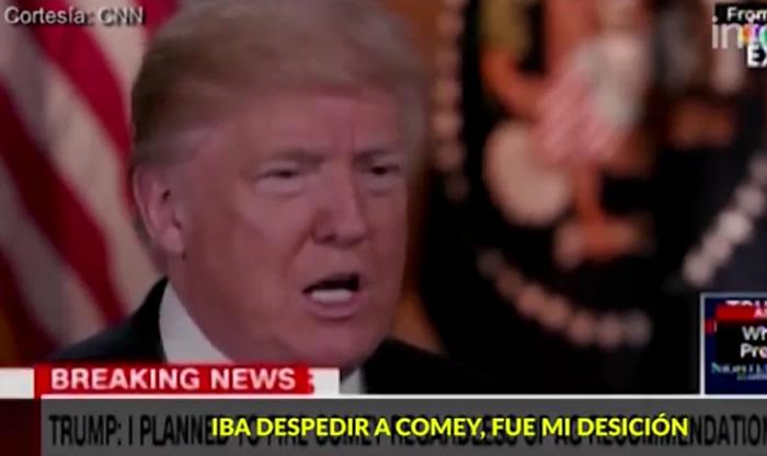 Trump amenaza al exjefe del FBI por filtraciones