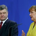 Merkel y Poroshenko acuerdan seguir el formato de Normandía con Macron
