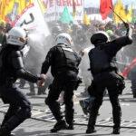 Brasil: Policía reprime masiva marcha contra Temer frente  al Congreso