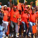 "Sindicatos denuncian ""monopolio capitalista blanco"" ante bolsa Johannesburgo"
