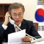 Abe y Moon se comprometen a colaborar para debatir con Corea del Norte