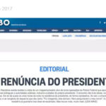 Brasil: Diario O Globo demanda la renuncia del presidente Michel Temer