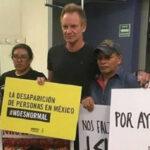México: Sting se reúne con padres de los 43 estudiantes desaparecidos (VIDEO)