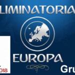 Mundial Rusia 2018/Zona Europea: Resultados y clasificación del Grupo I
