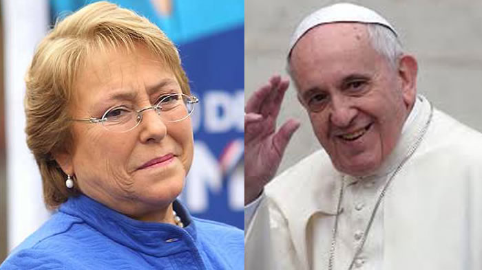 Visita del Papa hará reflexionar sobre rol del dinero — Bachelet