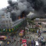 Las Malvinas: Primera dama pide apoyar esfuerzo de bomberos para sofocar incendio