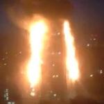 Reino Unido: Gigantesco incendio en edificio residencial, hay gente atrapada (VIDEO)