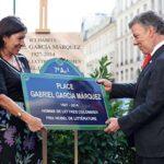 París honra con una plaza al escritor colombiano Gabriel García Márquez