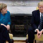 Merkel pidió explicaciones a Trump por no darle la mano en el Despacho Oval