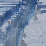 Glaciar que se desprende en la Antártida podría llegar a las Islas Malvinas