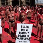 España: Protesta en toples contra corridas de toros de la Feria San Fermín