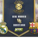 Real Madrid y Barcelona en un clásico especial juegan mañana en Miami