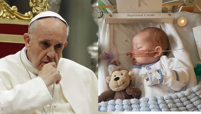 Resultado de imagen para charlie gard papa francisco