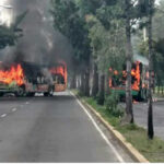 """Muerte de capo narco""""El Ojos"""" provoca quema de camiones en capital azteca (VIDEO)"""
