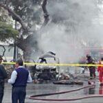 Falla en sistema de gas de vehículo repartidor habría ocasionado explosiones (VIDEO)