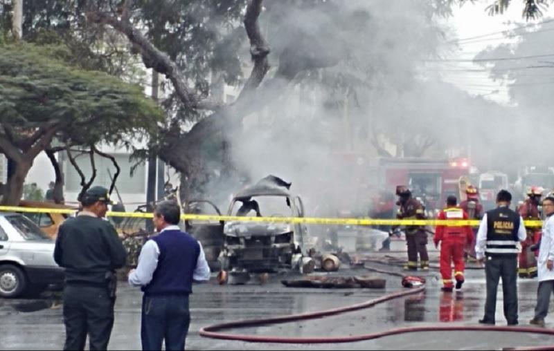 Cuatro heridos por explosiones de balones de gas — San Isidro