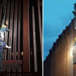 EEUU: Policía rescata a mexicana que quedó colgada de valla fronteriza