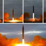 Corea del Norte publicó fotos del lanzamiento de misil que sobrevoló Japón