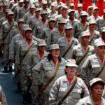 Inician ejercicios militares en Venezuela junto a marchas antiimperialistas