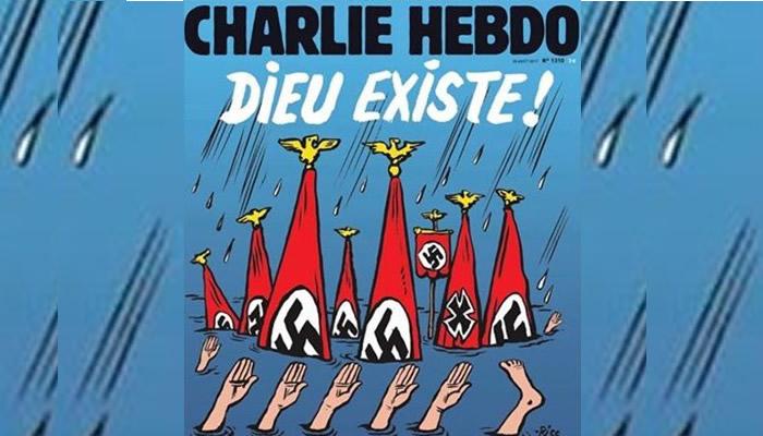Charlie Hebdo vuelve a la polémica con portada dedicada al huracán Harvey
