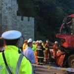 China: Colisión de autobús en un túnel ocasiona 36 muertos y 13 heridos