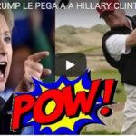"""Trump difunde video donde """"golpea"""" a Hillary Clinton con pelota de golf"""