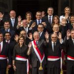 Integrantes del Gabinete Ministerial que preside Mercedes Aráoz