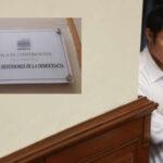 Congreso: Kenji cuestiona cambio de nombre a sala Gustavo Mohme Llona