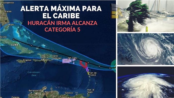 Huracán María sube a categoría 4 y avanza hacia Puerto Rico