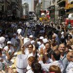 Miles de comensales celebran maratón de la pizza en Buenos Aires (Fotos)