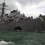 EEUU destituye a dos comandantes por colisión de buques en Asia