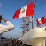 Buque Escuela peruano Unión atraca en el puerto español de Cádiz