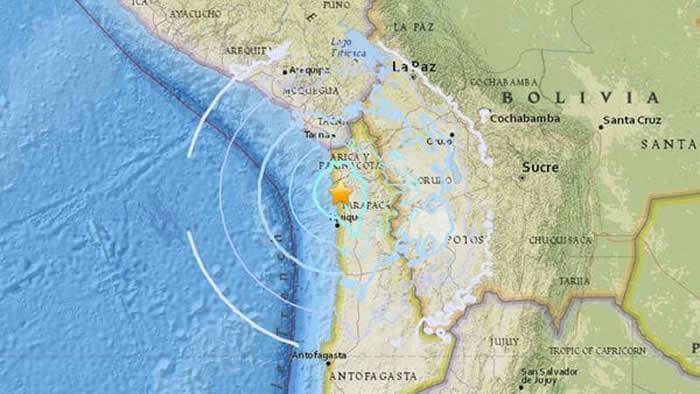 Sismo de magnitud 5,7 sacudió la costa de Tarapacá en Chile