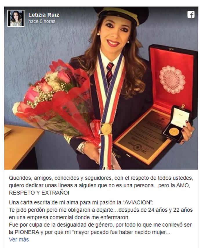 Acoso hizo renunciar a primera mujer paraguaya piloto de aviación