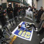 Avenida Abancay: Policía dispersó a maestros en paro de 24 horas (VIDEO)