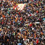 Barcelona: Miles de estudiantes se manifiestan a favor del referéndum