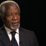 Kofi Annan dice que conflictos se solucionan mediante política no con armas