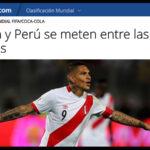 FIFA destaca la histórica posición de Perú en Clasificación Mundial
